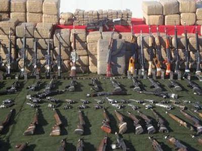 Armas y Drogas decomisadas a los carteles Mexicanos.